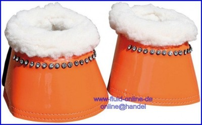 Harry's Horse Springglocken Diamond Neopren Lack  - Farbe: orange - Größe: XL