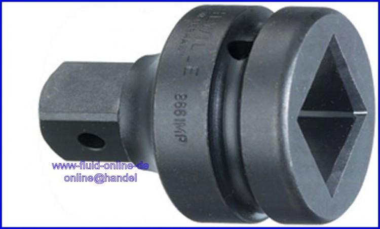 stahlwille 867imp adapter bergangsteil innen 37 5mm 1 1 2 auf aussen 25mm 1 4037. Black Bedroom Furniture Sets. Home Design Ideas