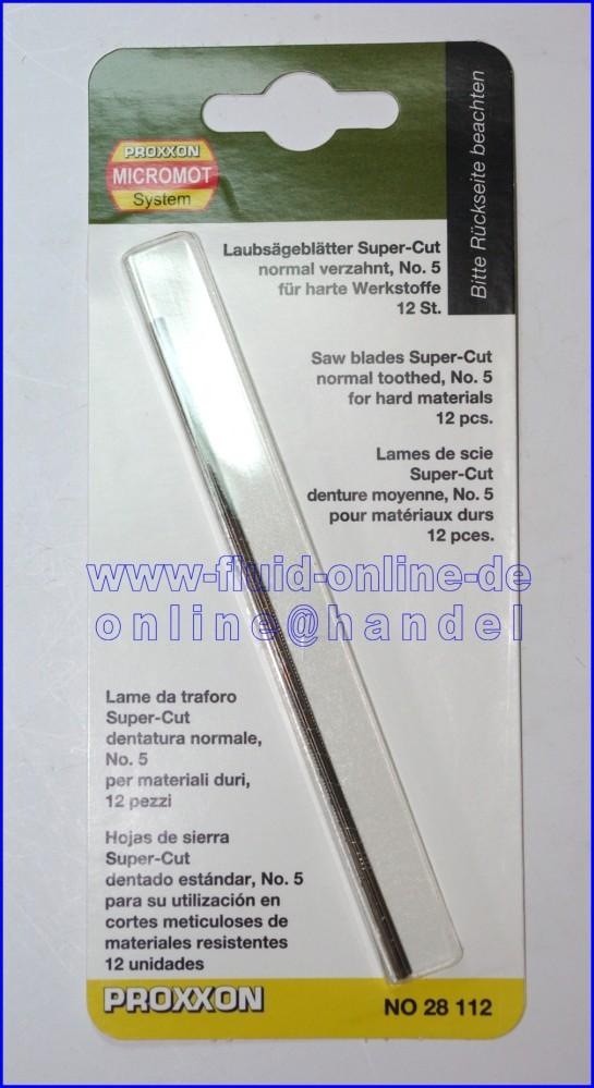 28112 Laubsägeblatt Supercut für Eisen normal verzahnt Nr. 5 - 12er Packung