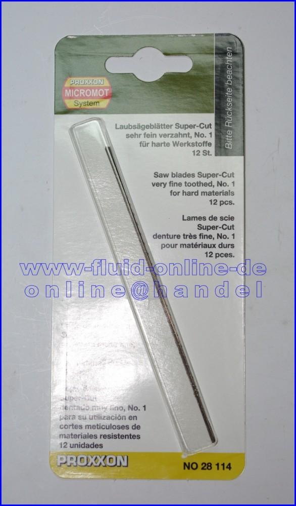 28114 Laubsägeblatt Supercut für Eisen sehr fein verzahnt Nr. 1 12er Packung