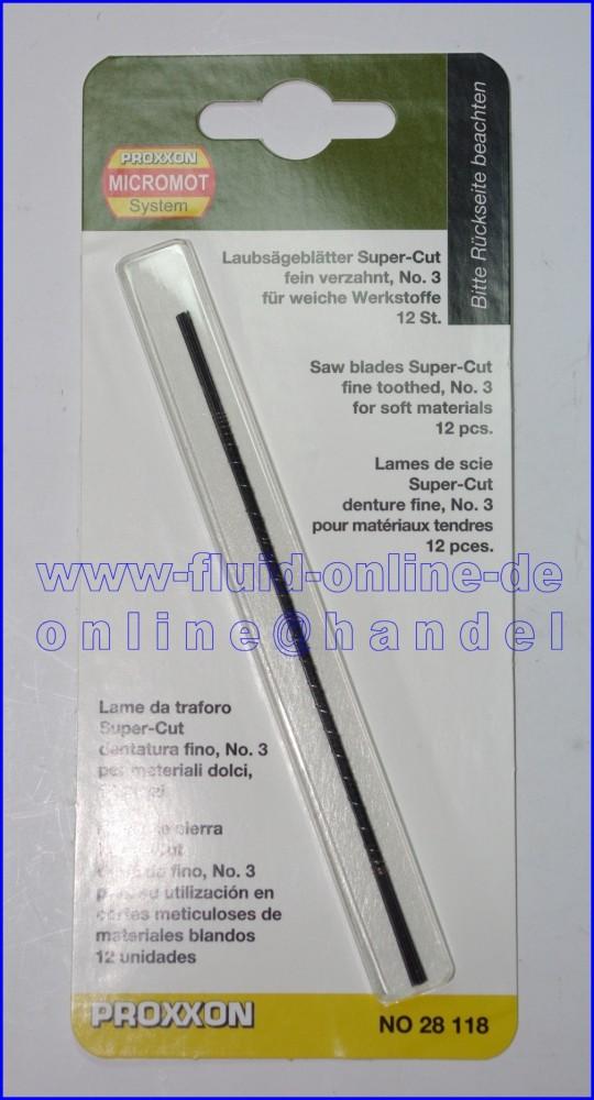 28118 Laubsägeblatt Supercut für Holz fein verzahnt Nr. 3 12er Packung
